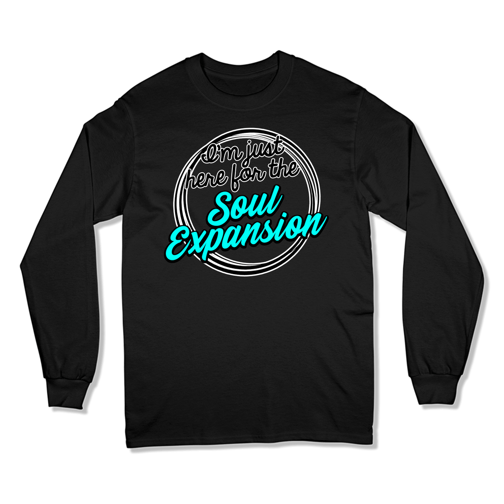 I'M JUST HERE FOR THE SOUL EXPANSION - LONG SLEEVE T-SHIRT LONG SLEEVE T-SHIRT Black / S DEARSOUL