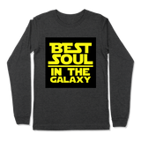 BEST SOUL IN GALAXY - LONG SLEEVE T-SHIRT LONG SLEEVE T-SHIRT Dark Grey Heather / S DEARSOUL