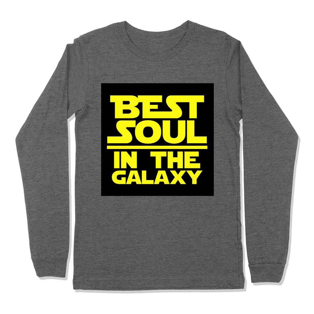 BEST SOUL IN GALAXY - LONG SLEEVE T-SHIRT LONG SLEEVE T-SHIRT Deep Heather / S DEARSOUL