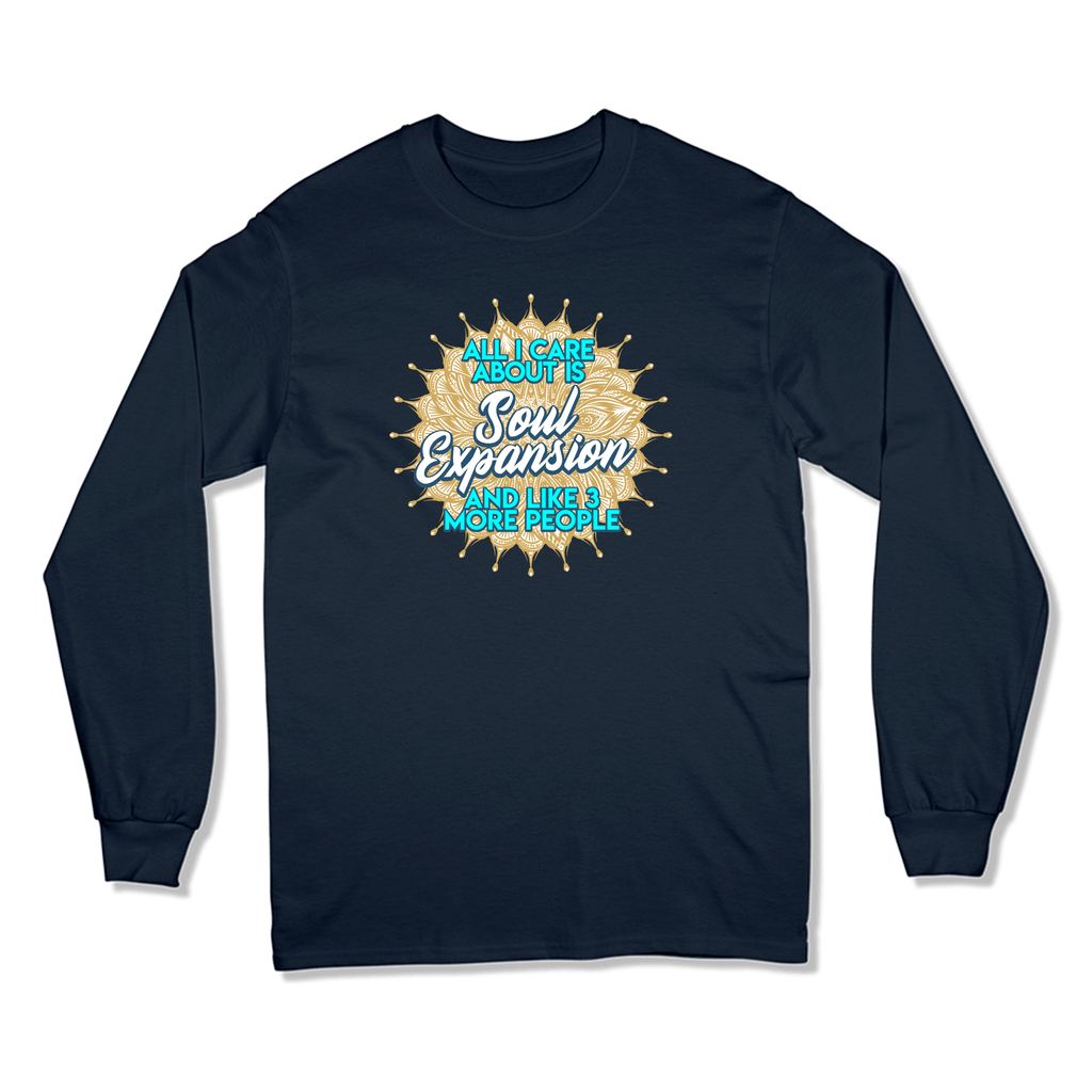 ALL I CARE ABOUT IS SOUL EXPANSION - LONG SLEEVE T-SHIRT LONG SLEEVE T-SHIRT Navy / S DEARSOUL