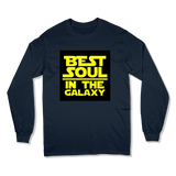 BEST SOUL IN GALAXY - LONG SLEEVE T-SHIRT LONG SLEEVE T-SHIRT Navy / S DEARSOUL