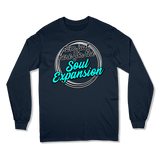 I'M JUST HERE FOR THE SOUL EXPANSION - LONG SLEEVE T-SHIRT LONG SLEEVE T-SHIRT Navy / S DEARSOUL