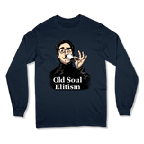 OLD SOUL ELITISM - LONG SLEEVE T-SHIRT LONG SLEEVE T-SHIRT Navy / S DEARSOUL