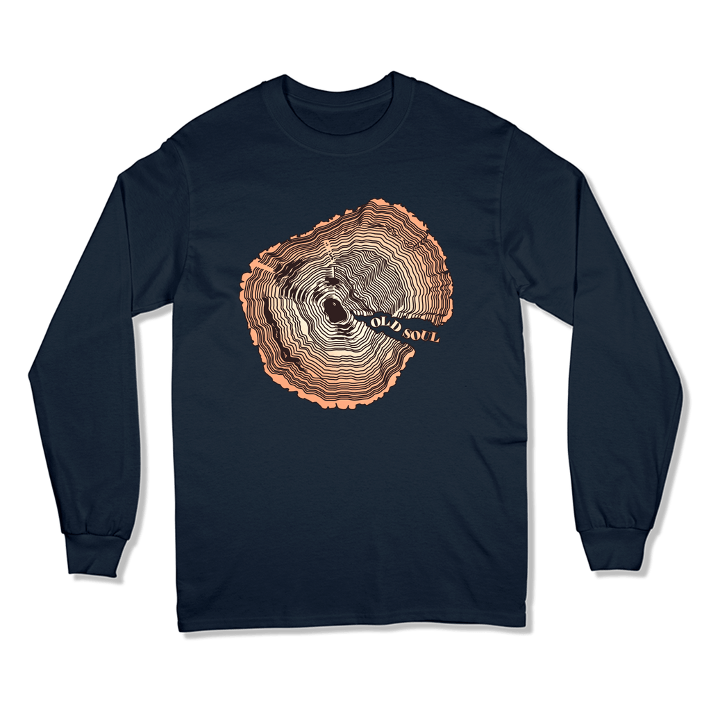 OLD SOUL - LONG SLEEVE T-SHIRT LONG SLEEVE T-SHIRT Navy / S DEARSOUL