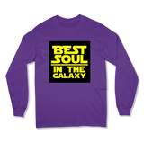 BEST SOUL IN GALAXY - LONG SLEEVE T-SHIRT LONG SLEEVE T-SHIRT Purple / S DEARSOUL