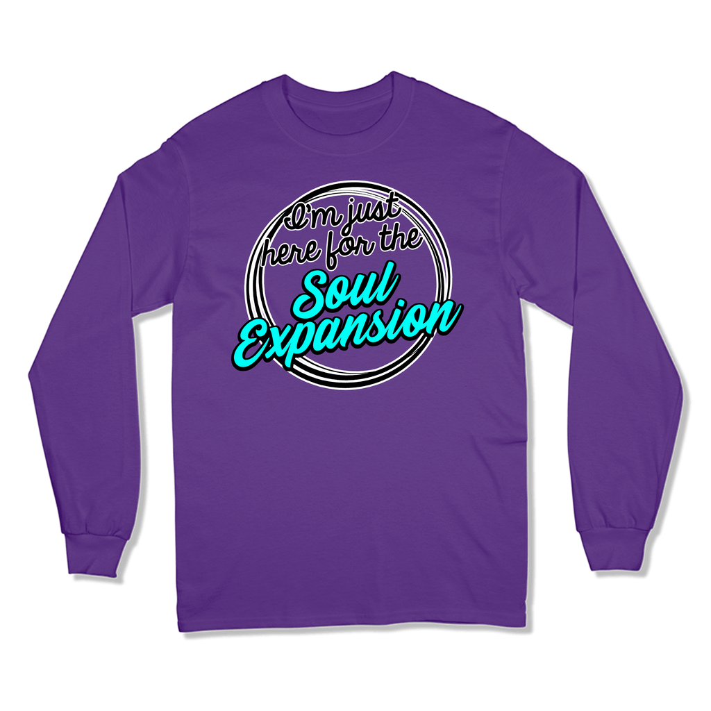 I'M JUST HERE FOR THE SOUL EXPANSION - LONG SLEEVE T-SHIRT LONG SLEEVE T-SHIRT Purple / S DEARSOUL
