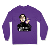 OLD SOUL ELITISM - LONG SLEEVE T-SHIRT LONG SLEEVE T-SHIRT Purple / S DEARSOUL
