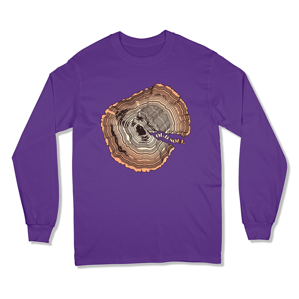 OLD SOUL - LONG SLEEVE T-SHIRT LONG SLEEVE T-SHIRT Purple / S DEARSOUL