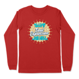 ALL I CARE ABOUT IS SOUL EXPANSION - LONG SLEEVE T-SHIRT LONG SLEEVE T-SHIRT Red / S DEARSOUL