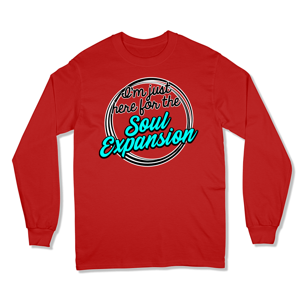 I'M JUST HERE FOR THE SOUL EXPANSION - LONG SLEEVE T-SHIRT LONG SLEEVE T-SHIRT RED / S DEARSOUL