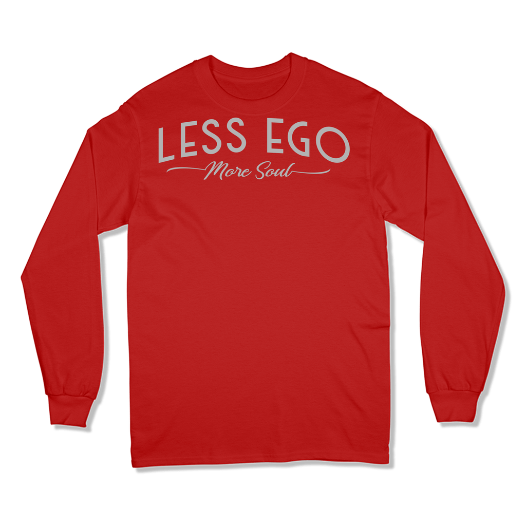 LESS EGO MORE SOUL - LONG SLEEVE T-SHIRT LONG SLEEVE T-SHIRT RED / S DEARSOUL
