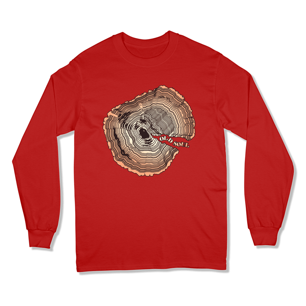 OLD SOUL - LONG SLEEVE T-SHIRT LONG SLEEVE T-SHIRT RED / S DEARSOUL