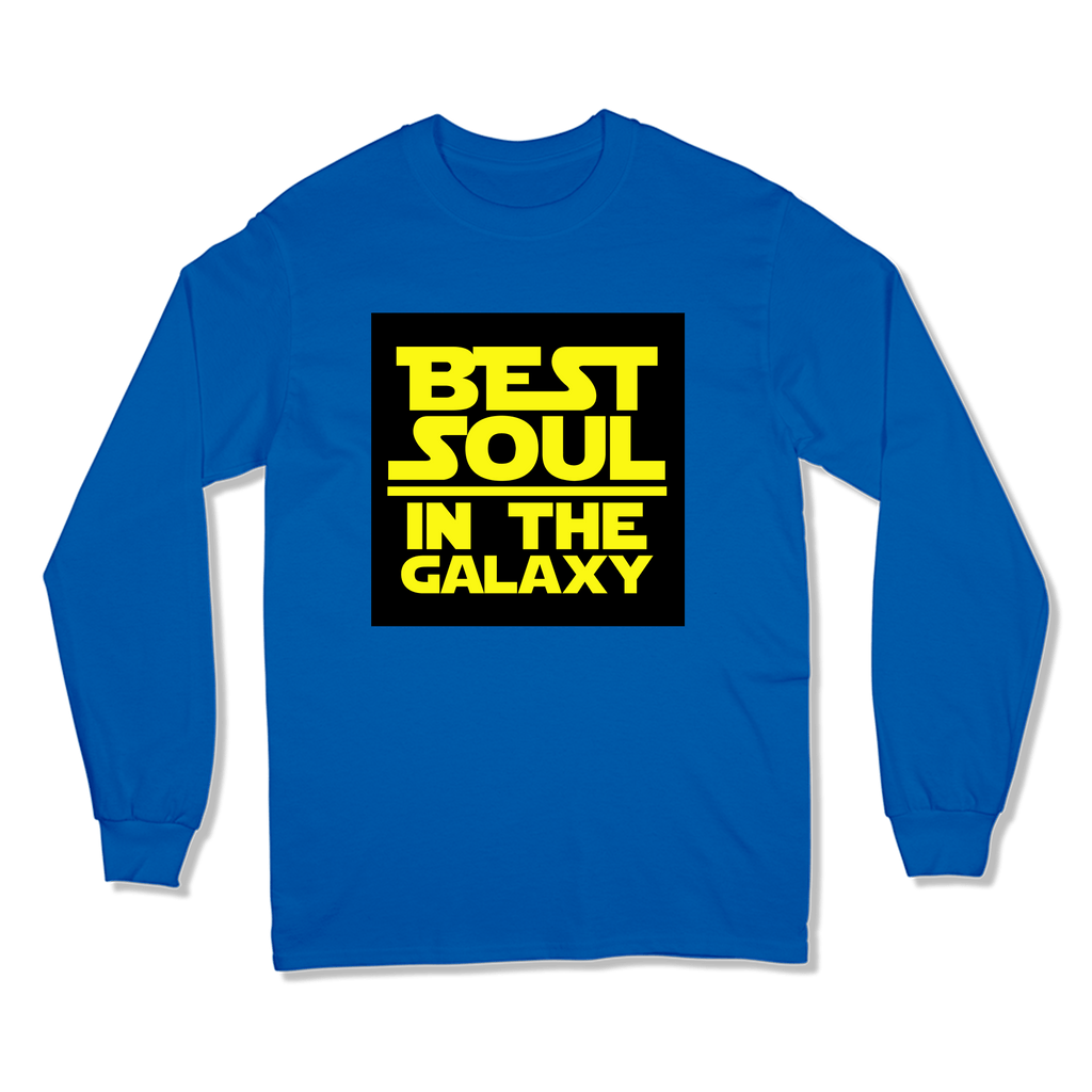 BEST SOUL IN GALAXY - LONG SLEEVE T-SHIRT LONG SLEEVE T-SHIRT Royal / S DEARSOUL