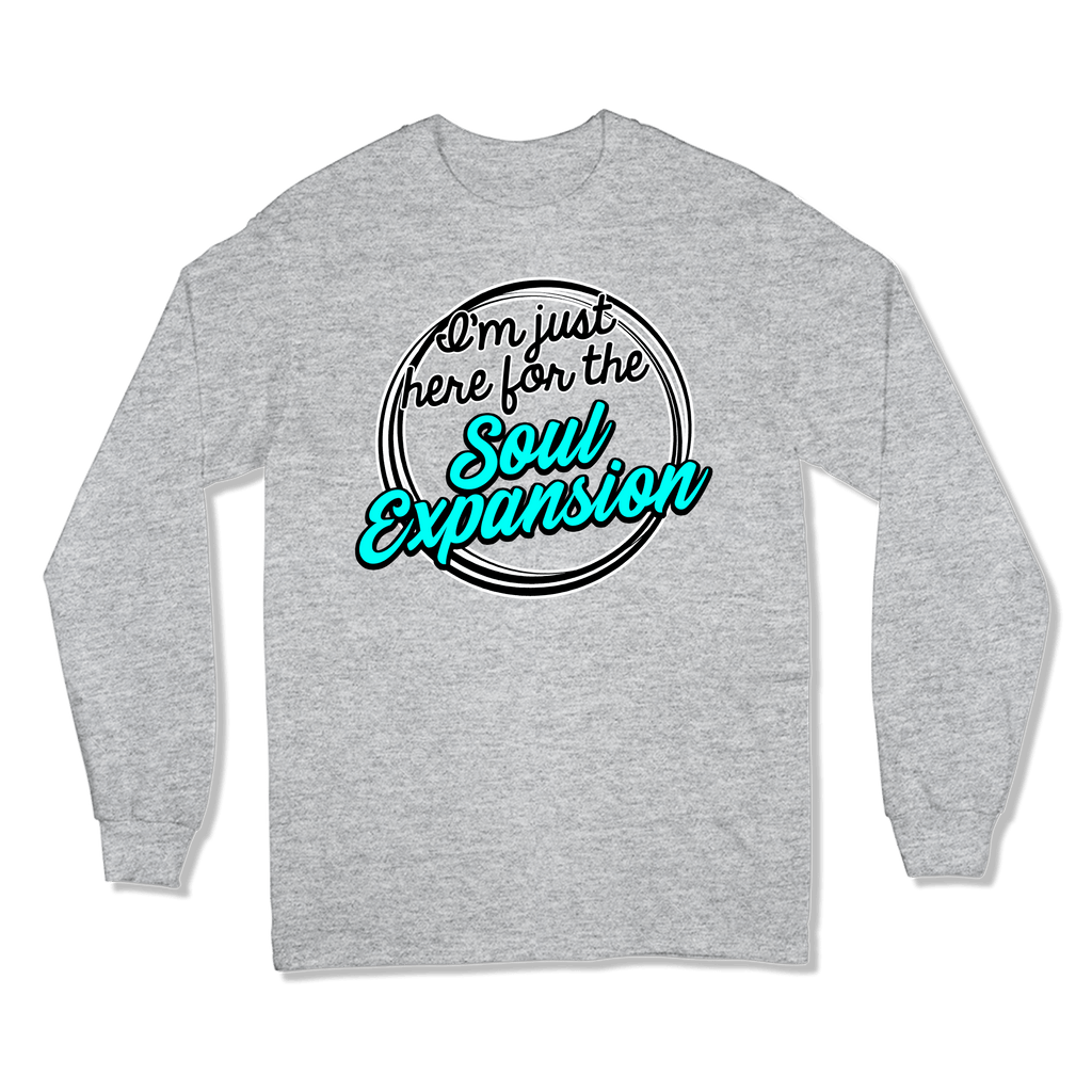 I'M JUST HERE FOR THE SOUL EXPANSION - LONG SLEEVE T-SHIRT LONG SLEEVE T-SHIRT Sport Grey / S DEARSOUL