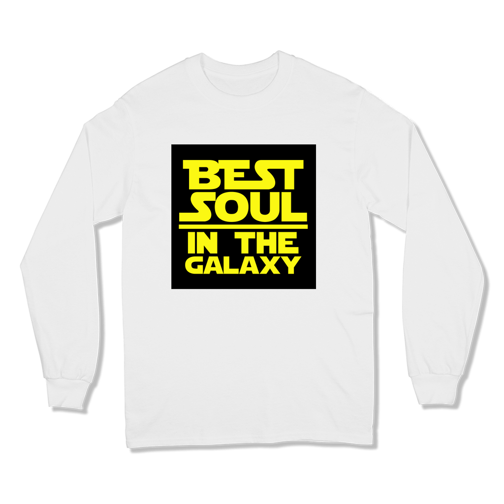 BEST SOUL IN GALAXY - LONG SLEEVE T-SHIRT LONG SLEEVE T-SHIRT White / S DEARSOUL
