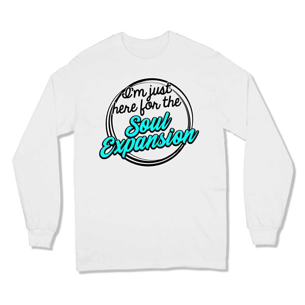 I'M JUST HERE FOR THE SOUL EXPANSION - LONG SLEEVE T-SHIRT LONG SLEEVE T-SHIRT White / S DEARSOUL