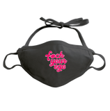 F*CK YOUR EGO - ADJUSTABLE FACE MASK MASK Black DEARSOUL