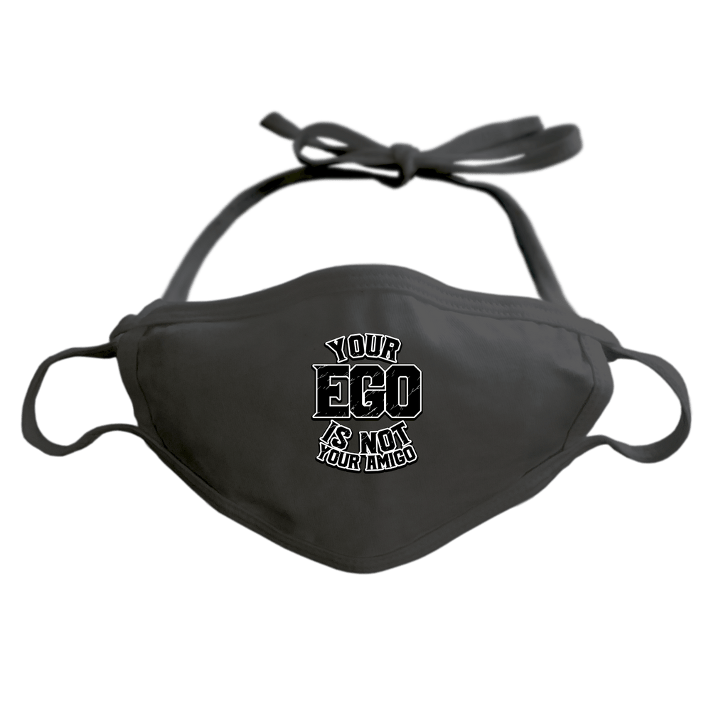 YOUR EGO NOT AMIGO - ADJUSTABLE FACE MASK MASK Black DEARSOUL