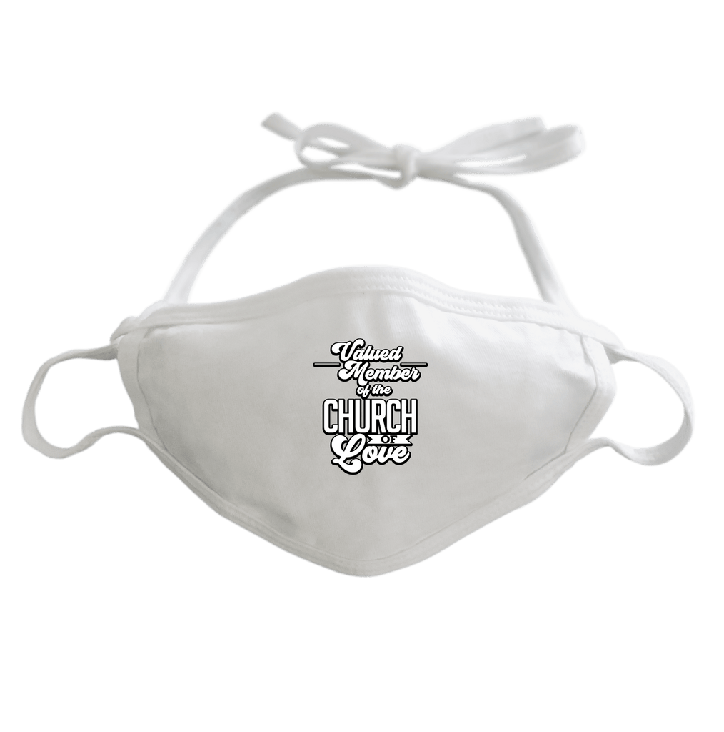 CHURCH OF SOUL - ADJUSTABLE FACE MASK MASK White DEARSOUL