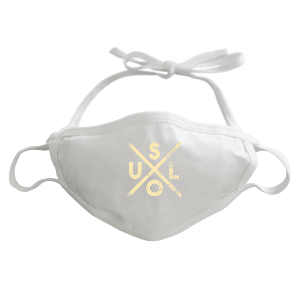 SOUL - ADJUSTABLE FACE MASK MASK White DEARSOUL