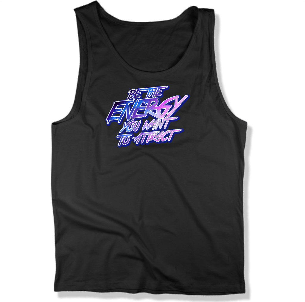 BE THE ENERGY YOU WANT - MENS TANK TOP MEN'S TANK Black / XS DEARSOUL