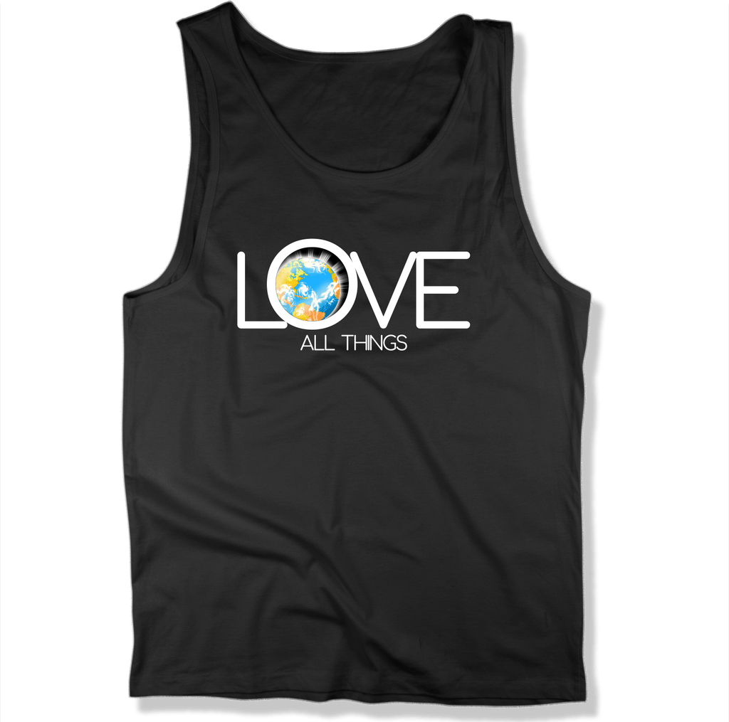 LOVE ALL THINGS - Mens Tank Top MEN'S TANK Black / XS DEARSOUL