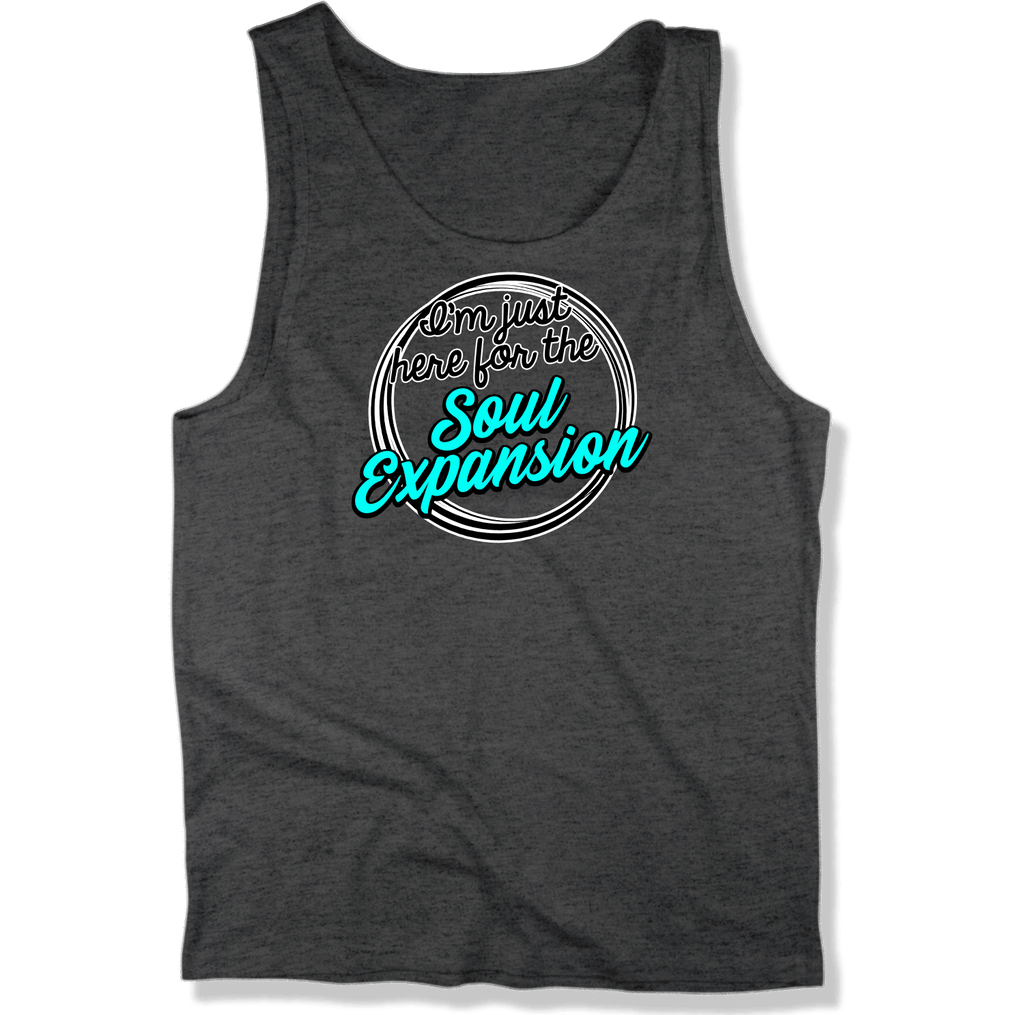 IM JUST HERE FOR THE SOUL EXPANSION - MENS TANK TOP MEN'S TANK Charcoal Heather / XS DEARSOUL