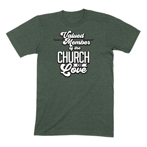 CHURCH OF SOUL - MENS T-SHIRT MENS T-SHIRT Heather Forest / S DEARSOUL