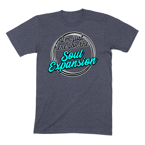 I'M JUST HERE FOR THE SOUL EXPANSION - MENS T-SHIRT MENS T-SHIRT Heather Navy / S DEARSOUL
