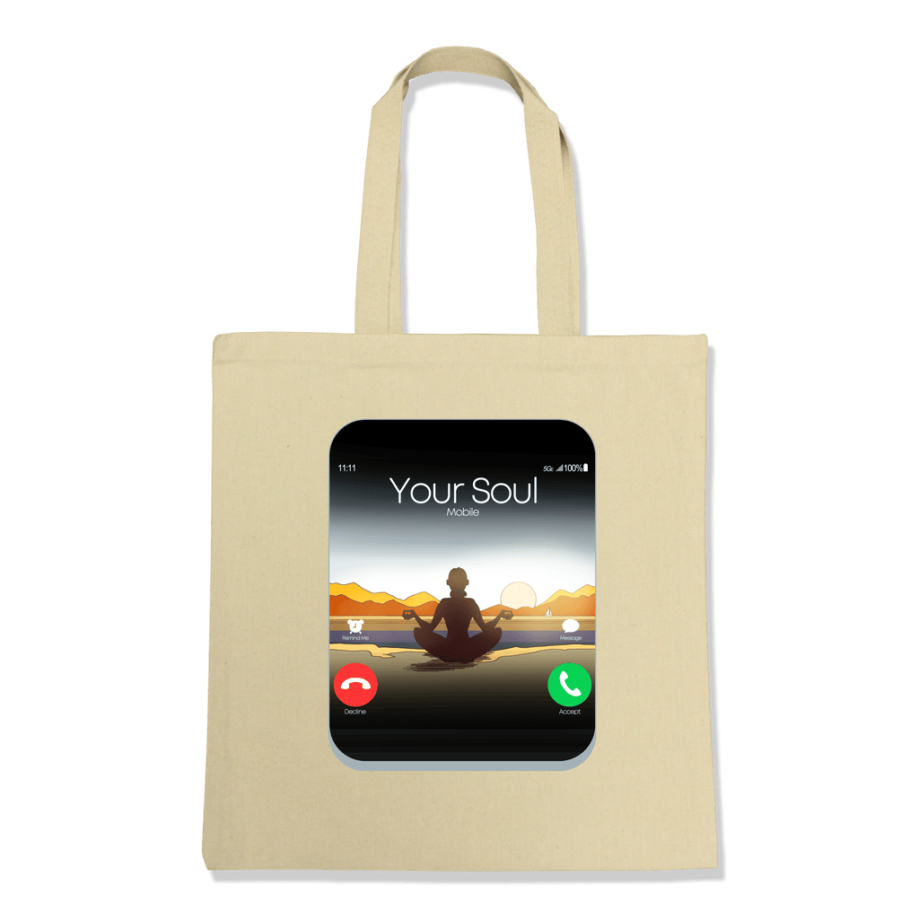 5G CELL PHONE - TOTE BAG TOTES Natural DEARSOUL