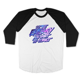 BE THE ENERGY YOU WANT-UNISEX RAGLAN - AMERICAN APPAREL White Black / XS DEARSOUL