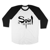 SOUL THE EGO SLAYER-UNISEX RAGLAN - AMERICAN APPAREL White Black / XS DEARSOUL