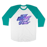 BE THE ENERGY YOU WANT-UNISEX RAGLAN - AMERICAN APPAREL White Evergreen / XS DEARSOUL