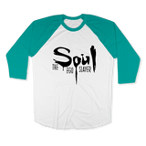 SOUL THE EGO SLAYER-UNISEX RAGLAN - AMERICAN APPAREL White Evergreen / XS DEARSOUL