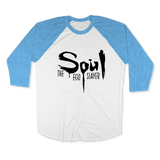 SOUL THE EGO SLAYER-UNISEX RAGLAN - AMERICAN APPAREL White Heather Lake-blue / XS DEARSOUL
