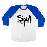 SOUL THE EGO SLAYER-UNISEX RAGLAN - AMERICAN APPAREL White Lapis / XS DEARSOUL