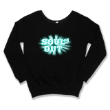 SOULED OUT - SLOUCHY SWEATER WOMEN'S SWEATER Black / XS DEARSOUL