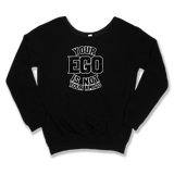 YOUR EGO NOT AMIGO - SLOUCHY SWEATER WOMEN'S SWEATER Black / XS DEARSOUL