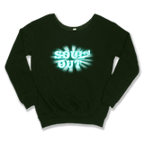 SOULED OUT - SLOUCHY SWEATER WOMEN'S SWEATER Forest Green / XS DEARSOUL