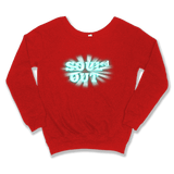 SOULED OUT - SLOUCHY SWEATER WOMEN'S SWEATER Red / XS DEARSOUL