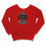 YOUR EGO NOT AMIGO - SLOUCHY SWEATER WOMEN'S SWEATER Red / XS DEARSOUL