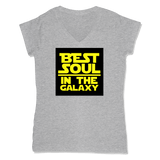 BEST SOUL IN GALAXY - LADIES V-NECK T-SHIRT WOMEN'S V-NECK Athletic Grey / XS DEARSOUL