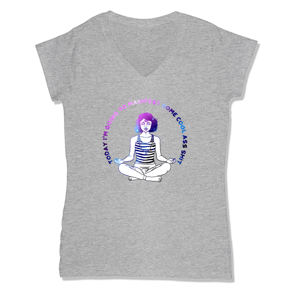 MANIFEST - LADIES V-NECK T-SHIRT WOMEN'S V-NECK Athletic Grey / XS DEARSOUL