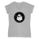 ROLLS 3RD EYE  - LADIES V-NECK T-SHIRT WOMEN'S V-NECK Athletic Grey / XS DEARSOUL