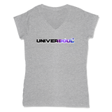 UNIVERSOUL - LADIES V-NECK T-SHIRT WOMEN'S V-NECK Athletic Grey / XS DEARSOUL