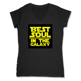 BEST SOUL IN GALAXY - LADIES V-NECK T-SHIRT WOMEN'S V-NECK Black / XS DEARSOUL