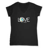 LOVE ALL THINGS - LADIES V-NECK T-SHIRT WOMEN'S V-NECK Black / XS DEARSOUL
