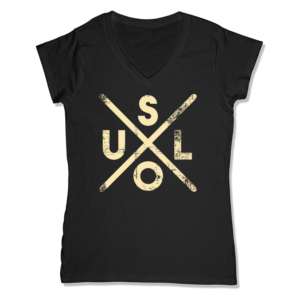 SOUL -  LADIES V-NECK T-SHIRT WOMEN'S V-NECK Black / XS DEARSOUL