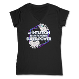 SUPER POWER - LADIES V-NECK T-SHIRT WOMEN'S V-NECK Black / XS DEARSOUL