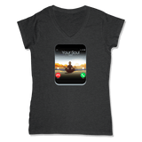 5G CELL PHONE - LADIES V-NECK T-SHIRT WOMEN'S V-NECK Charcoal Heather / XS DEARSOUL